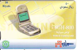 SAUDI ARABIA(chip) - Samsung Mobile SGH-800, Saudi Telecom Telecard 50 Riyals, Chip Siemens, Used - Arabia Saudita