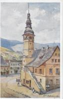 AK 0251  Hofecker , E. F. - Mähr. Altstadt / Deutscher Schulverein Um 1920 - Künstlerkarten