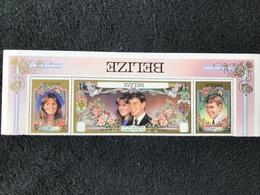 Belize Royal Wedding 1986 Strip Type Reversed Mint - Belize (1973-...)