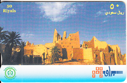 SAUDI ARABIA(chip) - Old City Ruins, Saudi Telecom Telecard 50 Riyals, Chip Siemens, Used - Arabia Saudita