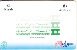 SAUDI ARABIA(chip) - The National Commercial Bank, Saudi Telecom Telecard 50 Riyals, Chip GEM3.3, Used - Saudi Arabia
