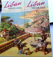 LIBAN LEBANON MOYEN ORIENT SYRIE DEPLIANT TOURISTIQUE DEPLIANT ANNEES 1930 /1950 BON ETAT - Tourism Brochures
