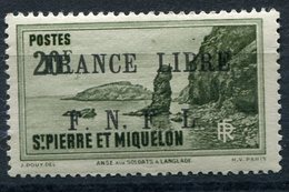 """SAINT PIERRE ET MIQUELON FRANCE LIBRE N°273* FAUX POUR """"REMPLIR"""" UNE CASE - Neufs"""
