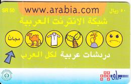SAUDI ARABIA(chip) - Www.aabia.com/Symbols, Saudi Telecom Telecard 50 Riyals, Chip GEM3.3, Used - Saudi Arabia