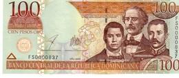 Dominican Republic  P.171c   100 Pesos 2003 Unc - Dominicana