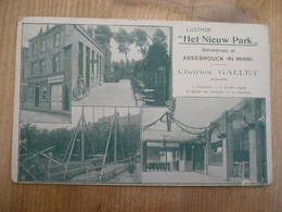 Assebroek Lusthof Het Nieuw Park 1908 Charles Gallet Rare - Brugge
