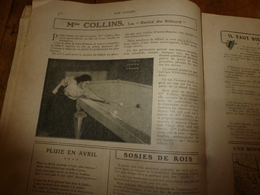 1907 NOS LOISIRS : The English Sportswoman Miss Collins Queen Of Billiards-table; Etc - Books, Magazines, Comics
