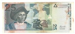 El Salvador 25 Colones 1999, Crisp VF+ (some Hum. Stains) - Salvador