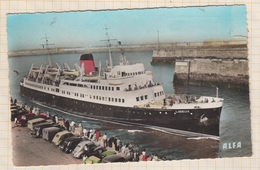 9AL1384 DIEPPE LE LISIEUX ENTRANT AU PORT Legerement Ouvert VOITURES - Passagiersschepen