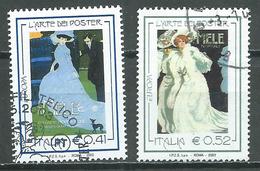 Italie YT N°2641/2642 Europa 2003 L'art De L'affiche Oblitéré ° - Europa-CEPT