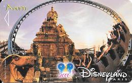 PASS-DISNEY-DISNEYLAND PARIS-2001/INDIANA JONES-V°NARBONI 00/06/TEM-VALIDE 1 JOUR-TBE - France