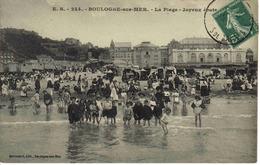 62 Boulogne Sur Mer N°ES 224 La Plage Joyeux Ebats Enfants Jeux D'eau Cabines Sur Roues Stévenard édit - Boulogne Sur Mer