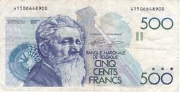 BILLETE DE BELGICA DE 500 FRANCOS DEL AÑO 1986 DIFERENTES FIRMAS (BANKNOTE) - [ 2] 1831-... : Reino De Bélgica