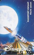 PASS-DISNEYLANDPARIS -1996-SPACE MOUNTAIN-FUSEE-ENFANT-V° N° S 029522- A Droite Vertical- VALIDE Le 300396 Gratuit--TBE- - Toegangsticket Disney