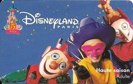 PASS-DISNEYLANDPARIS -1997-5 ANS-ADULTE--V°SPEOS- N° S019702-MKC VALIDE 1 JOUR-TBE- - Toegangsticket Disney