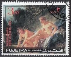 """Fujeira 1971 """"Diana Al Bagno"""" Quadro Dipinto Da F. Boucher CTO Rococo Paintings - Fujeira"""