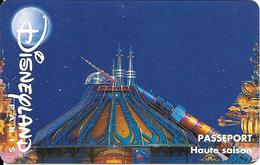 PASS-DISNEYLANDPARIS -1996-SPACE MOUNTAIN-ADULTE-V° N° S 049530 VERTICAL A Droite- Valide 1 Jour/-TBE- - Toegangsticket Disney