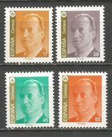 ESPAÑA JUAN CARLOS I SERIE BASICA EDIFIL NUM. 3259/3262 ** SERIE COMPLETA SIN FIJASELLOS - 1991-00 Unused Stamps