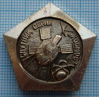 USSR / Badge / Soviet Union / RUSSIA / Space. Satellite Series COSMOS. - Space
