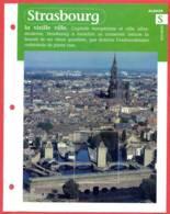 67 STRASBOURG Vieille Ville Bas Rhin Région Alsace Géographie Fiche Dépliante - Géographie