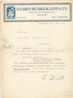 FA 1312 - FACTURE  -   SUOMEN MUSIIKKIKAUPPA   HELSINKI - France