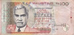 BILLETE DE MAURITIUS DE 100 RUPIAS DEL AÑO 2009  (BANKNOTE) - Mauricio