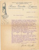 FA 1319- FACTURE  -  RENZO CARETTA LUGANO     MUSIK INSTRUMENTE  LUGANO - France