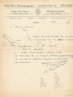 FA 1326 - FACTURE  - POLAK'S PIANOMAGAZIJN       HELDER - Frankreich