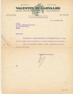 FA 1330 - FACTURE  -  VALENTIM  DE CARVALHO   PIANOS AUTOPIANOS  MUSICAS   LISBOA - France