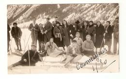 CT--2909-- FOTO CARTOLINA GRUPPO DI SCIATORI A COURMAJEUR GENNAIO 1930 - Persone Anonimi