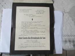 JEAN COMTE DES ORMAIMOIN DE SAN CLASSE 52 VALENCIENNES CASERNE RONZIER - Documents