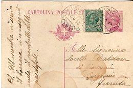 Cartolina Postale Spedita Da Rima S. Giuseppe Per Borgosesia Fraz. Ferruta - Formato Piccolo - Italia