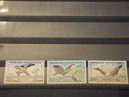 CENTRAFRICAINE - P.A. 1960 UCCELLI 3 VALORI - NUOVI(++) - Repubblica Centroafricana