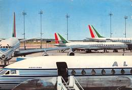 """0566 """"ALITALIA AIRLINES - DC8 AND CARAVELLE JETS"""" CART. ORIG. SPED. 1967 - Aerodromi"""