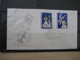 Ungarn 1753/54 B Geschnitten FDC Weltraum/Space (2194) - Hongarije