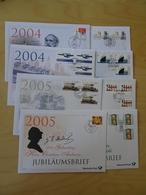 Bund 8 Verschiedene Jubiläumsbriefe 2004-2005 (4422) - [7] Federal Republic