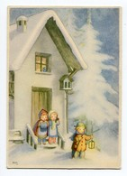Noel Weihnachten Christmas Enfants Neige Sign.Soffiantini - Non Classificati