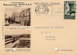 Raymond Hottat, Leuven, Louvain, 1935,  2 Scans, Gaatjes - Entiers Postaux