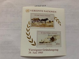 United Nations Wien 40 Years U.N.O. S/s 1985 Mnh - Vienna – International Centre