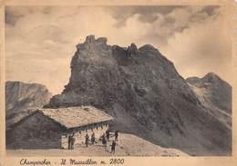 """0570 """"CHAMPORCHER - IL  MOUSSAILLON - M. 2800"""" ANIMATA CART. ORIG. SPED. 1941 - Altre Città"""