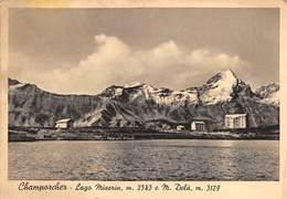 """0571 """"CHAMPORCHER - LAGO MISERIN M. 2583 E M. DELA' M. 3129"""" CART. ORIG. SPED. 1939 - Altre Città"""