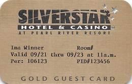 Silver Star Casino - Philadelphia, MS - Paper Gold Guest Card - Casinokarten