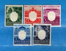 (Mn1) Germany POLOGNE *1943 - PARTI Du TRAVAIL. Yvert. 123 à 127. MLH   Vedi Descrizione - Governo Generale