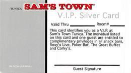 Sam's Town Casino Tunica MS - BLANK Paper VIP Silver Card - Casinokarten