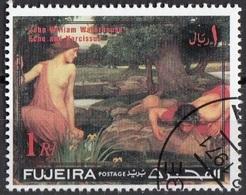 "Fujeira 1971 ""Eco E Narciso"" Quadro Dipinto Da J.W. Waterhouse Preobliterato Impressionismo Paintings - Mitologia"