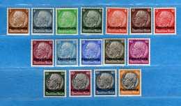 (Mn1) LUXEMBURG - HINDERBURG **1940 - . Yvert. 1 à 16. MNH **  Vedi Descrizione - Occupation 1938-45