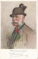 KAISER FRANZ JOSEF - Künstlerkarte M.M.VIENNE - Königshäuser