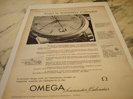 ANCIENNE PUBLICITE LA SEAMASTER CALENDAR MONTRE OMEGA 1956 - Joyas & Relojería