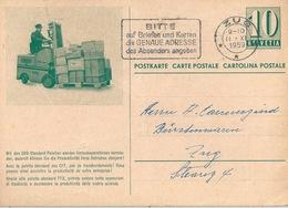 "PK SBB-I 54a  ""SBB Standart Palette Mit 12 Paketen""              1959 - Interi Postali"