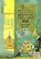"""Carte Postale """"Cart'Com"""" - Série Spectacle, Concert, Film - 8e Festival De Pertuis - Bande Dessinée, Théâtre De Rue - Bandes Dessinées"""